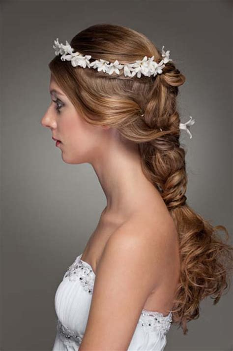 Wedding Hairbraided Wedding Hairstyle Flowers The New