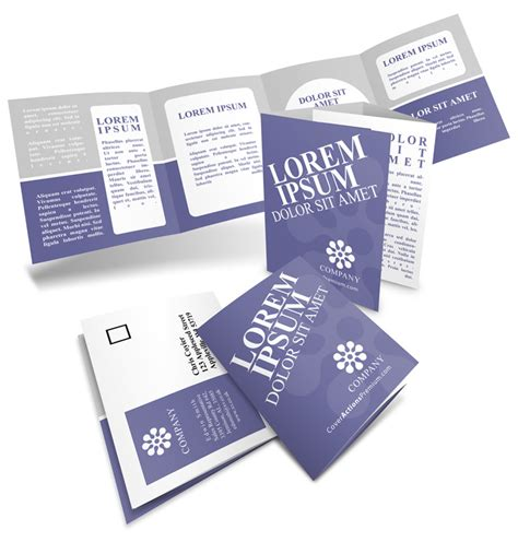 4 Panel Brochure Roll Fold Template Free 8 Pp Roll Fold Brochure Mockup 17x 5 5 Cover Actions