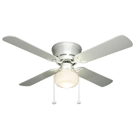 lowes flush mount white ceiling fans shop harbor breeze armitage 42 in white flush mount indoor