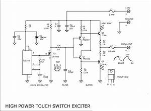 Power Touch Switch Exciter Circuit