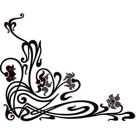 scroll corner decorative ornament 1 typography flourishes scrolls pinterest free pattern