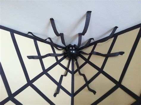 How To Decorate With Spider Web - decor spider in a web using streamers and