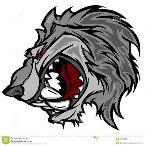 wolf cartoon mascot vector logo stock vector image