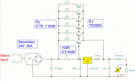 build  volt  amp psu circuit diagram