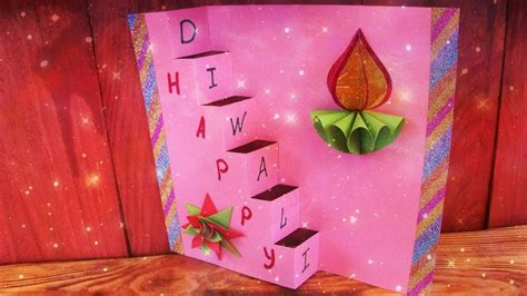 diy diwali handmade pop  greeting card making ideas