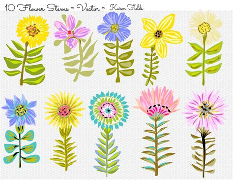 Clipart Of Beautiful Flowers Collection