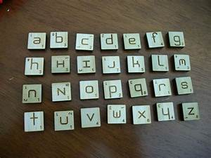 ambigrammic letter tiles With tiles with letters on them