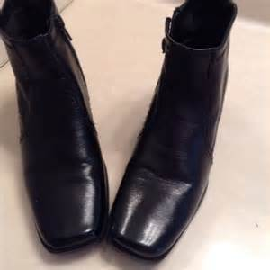 womens boots size 7 womens black ankle boots size 7 square toe chunky heels