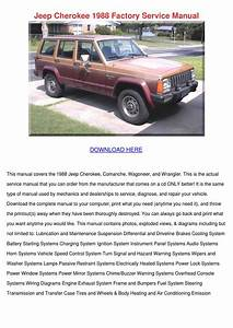Jeep Cherokee 1988 Factory Service Manual By Aliciawaggoner