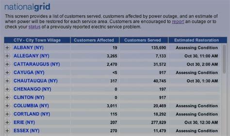 storm reports  outage maps samprattcom