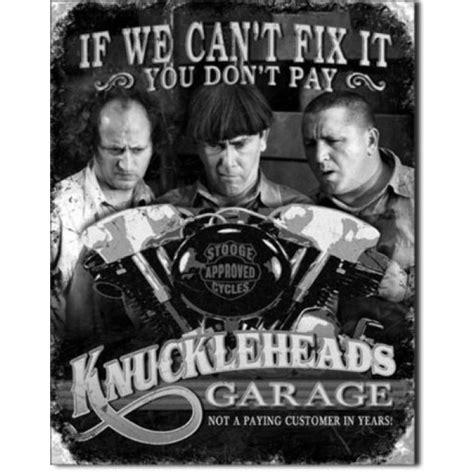 GeeksHive: Three Stooges: Knuckleheads Garage Tin Metal