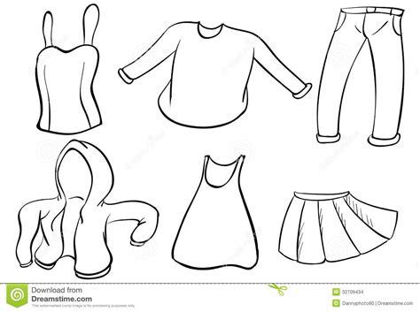 Kleurplaat Kledingstukken by Silhouettes Of Dresses Stock Vector Illustration Of