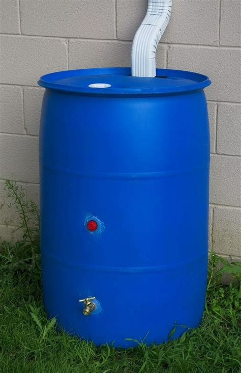 rain barrel recycled plastic rain water  gallon