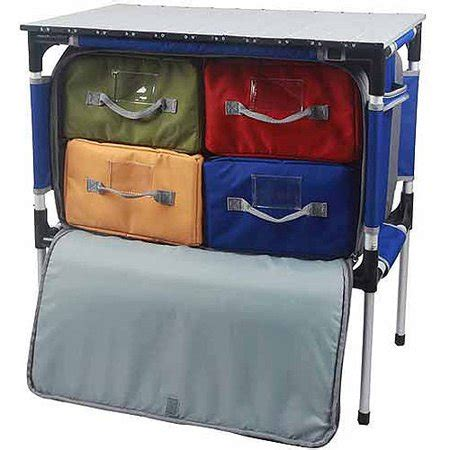 Portable Camping Table Rollup Camp Kitchen Storage