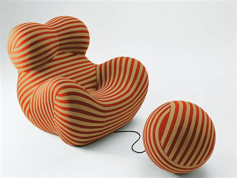Zingy chair by designer Gaetano Pesce   Ideas for Home Garden Bedroom Kitchen   HomeIdeasMag.com