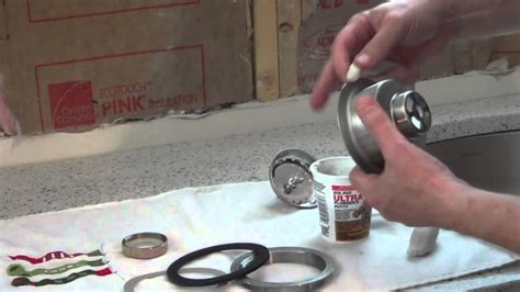 How To Install A Kitchen Sink Basket Strainer  Youtube