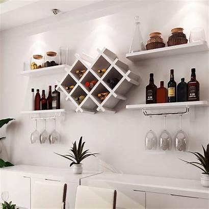 Wine Wall Shelves Rack Glass Holder Floating