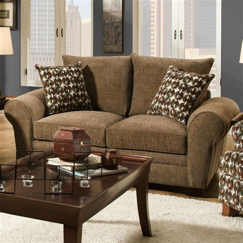 comfortable loveseat traditional styled loveseat with comfortable look for
