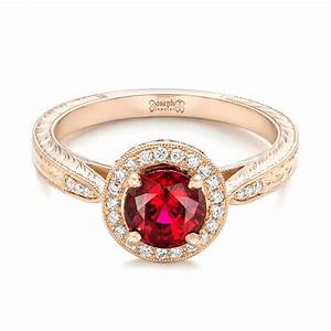 custom rose gold ruby and diamond engagement ring 102453 With gold wedding rings with ruby