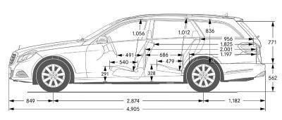 4705 x 1829 x 1839 mm kofferraum mit 7 sitzer. Mercedes-Benz E-Klasse T-Modell (S 212) - Abmessungen & Technische Daten - Länge, Breite, Höhe ...