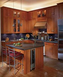16, classy, kitchen, cabinets, made, out, of, cherry, wood