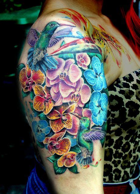 images  orchid sleeve tattoo
