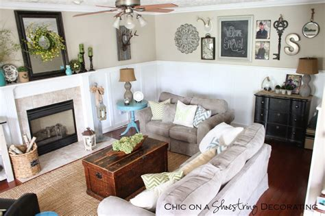 Chic Living Room Decorating Ideas And Design 7 Chic: Chic On A Shoestring Decorating: My Farmhouse Chic Living