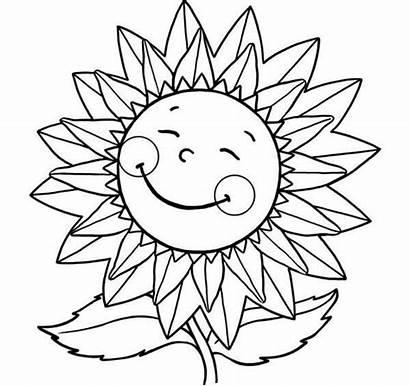 Coloring Colorir Girassol Desenho Sorrindo Sunflower Smile