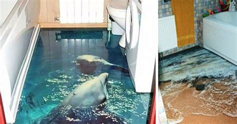 awesome  floors transform  bathroom   ocean oasis