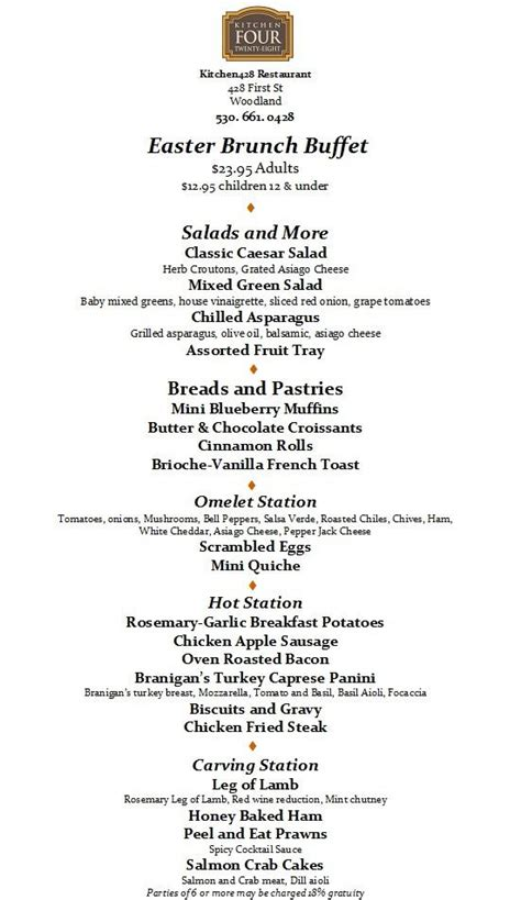 brunch buffet menu mojoslounge 171 just another wordpress com site