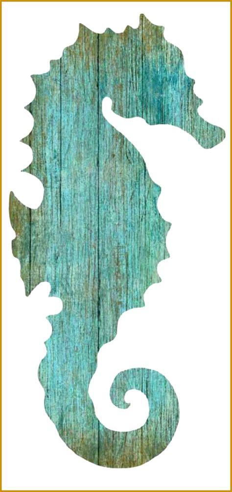 seahorse cut  pattern fabtemplatez