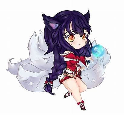 Ahri League Legends Chibi Fanart Anime Drawings