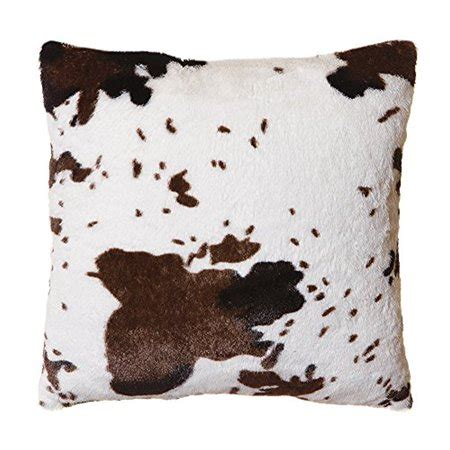 Cowhide Throw by Faux Fur Cowhide Plush Throw Pillow 18 Quot X18 Quot Cover Only