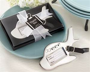 Airplane luggage tag in gift box with suitcase tag for Wedding favor luggage tags