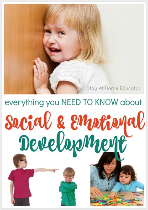 developmental skills for preschoolers and activities to 932 | Soocial and Emotional Development Collage