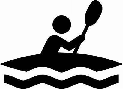 Kayak Svg Clip Clipart Kayaking Boat Icon