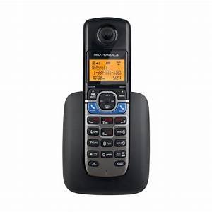 Motorola L702cbt Dect 6 0 Black Digital Corded  Cordless