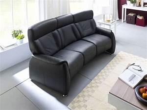 Couch 3 Sitzer Leder : taavi 3 sitzer sofa polstersofa couch leder echtleder schwarz 5 relaxfunktionen ebay ~ Bigdaddyawards.com Haus und Dekorationen