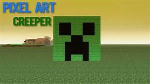 Minecraft Pixel Art - 02 Creeper ! - YouTube