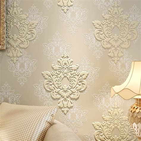 high quality luxury  damask wallpaper fabric embossed
