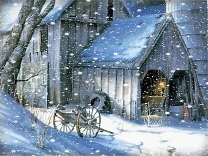 Snow Scenes Country Winter Falling Wallpapersafari Arabas