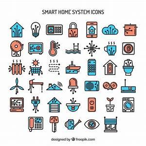 Smart Home Systems : hand drawn smart home system icons vector premium download ~ Frokenaadalensverden.com Haus und Dekorationen