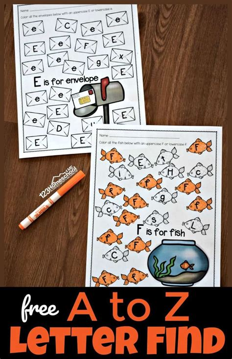 letter find worksheets  images alphabet