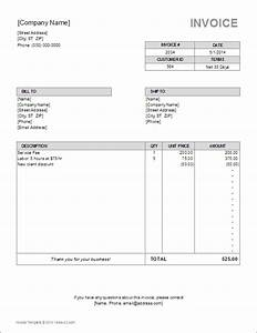 billing invoice template for excel With bill format in excel