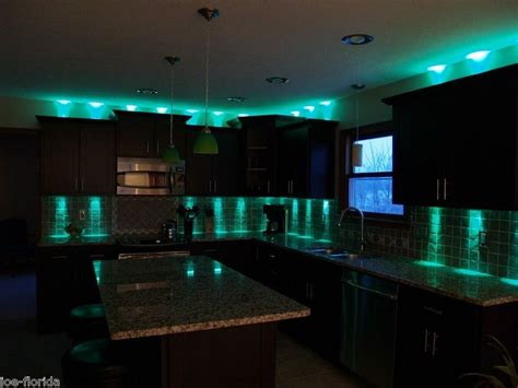 beautiful color ideas kitchen cabinet lighting led