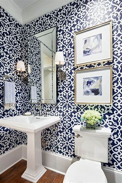 Powder Rooms Patterned Unique Remodeling Inspire Chic