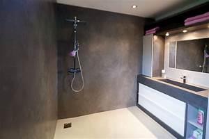 Beton Ciré Sol Salle De Bain : r novation salle de bain atelier design beton cire nantes ~ Preciouscoupons.com Idées de Décoration