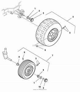 Murray 2690429 - 107 277740  50 U0026quot  Mower Deck  2005  Parts Diagram For Wheels