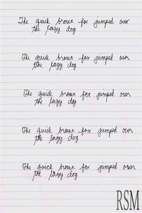 handwriting practice writing