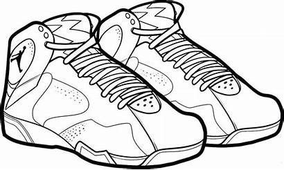 Coloring Shoes Pages Basketball March Madness Printable